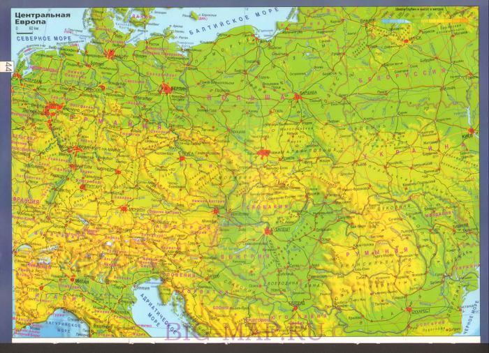 Европы большая подробная карта