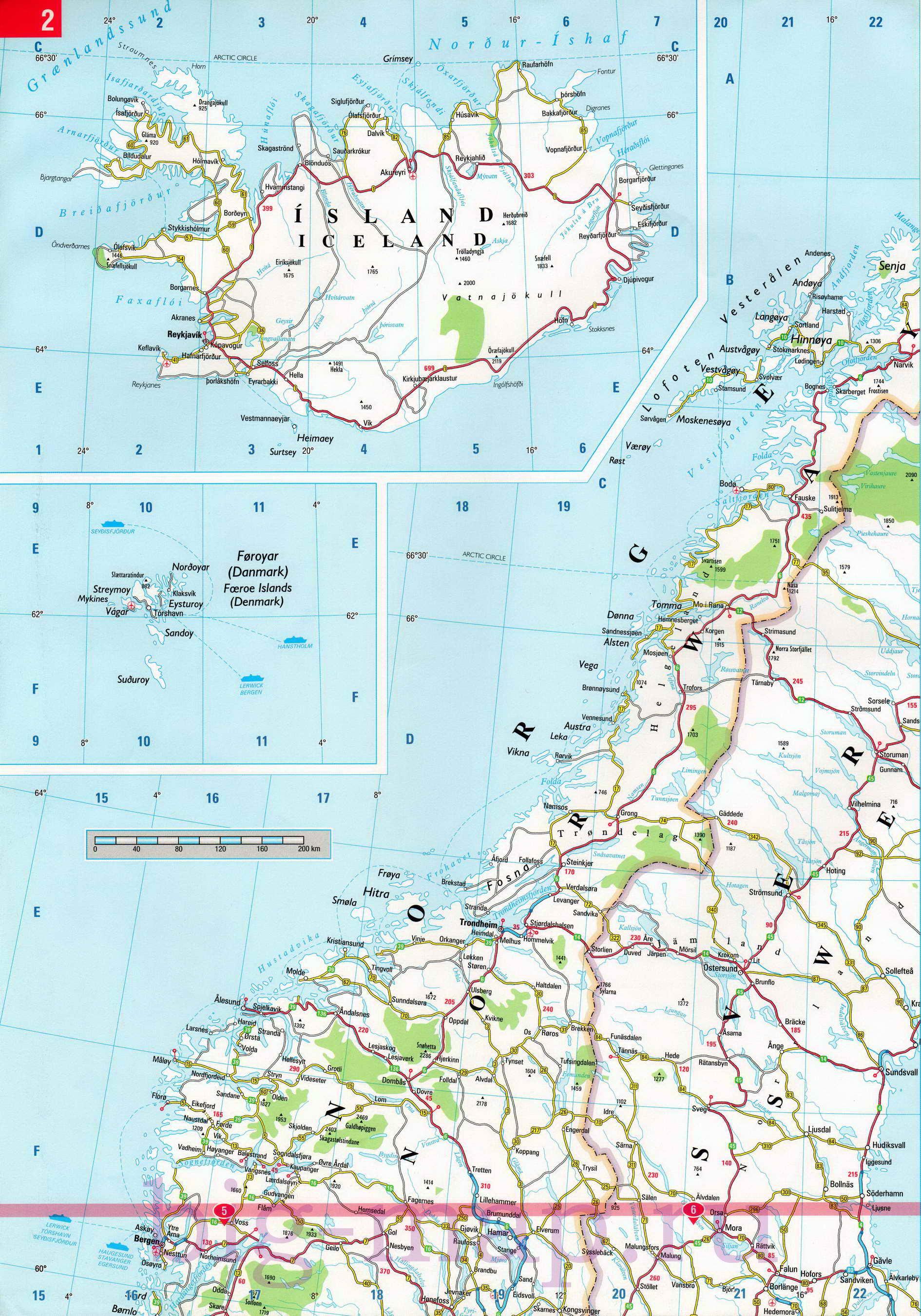 Карты Автодорог Европы